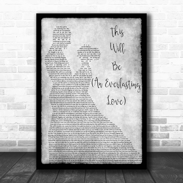 Natalie Cole This Will Be (An Everlasting Love) Grey Man Lady Dancing Song Lyric Print