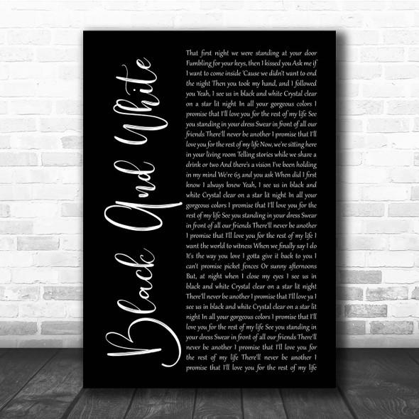 Niall Horan Black And White Black Script Song Lyric Print