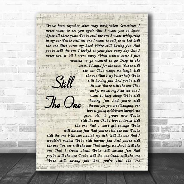 Orleans Still The One Vintage Script Song Lyric Print