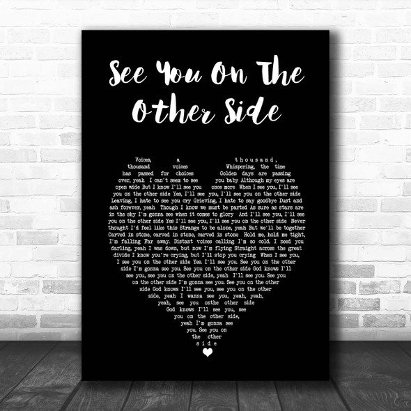 Ozzy Osbourne See You On The Other Side Black Heart Song Lyric Print