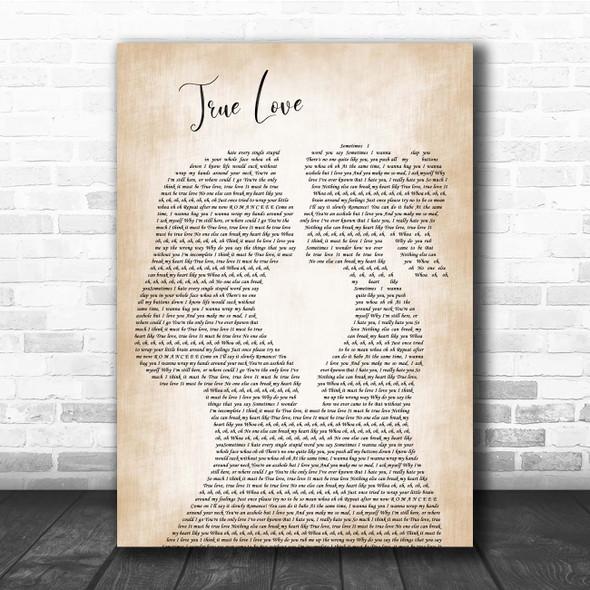 P!nk ft. Lily Allen True Love Lesbian Women Gay Brides Couple Wedding Song Lyric Print