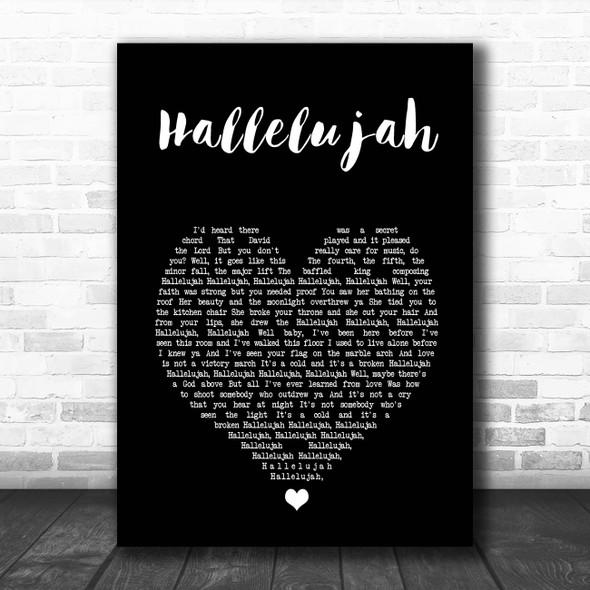 Pentatonix Hallelujah Black Heart Song Lyric Print