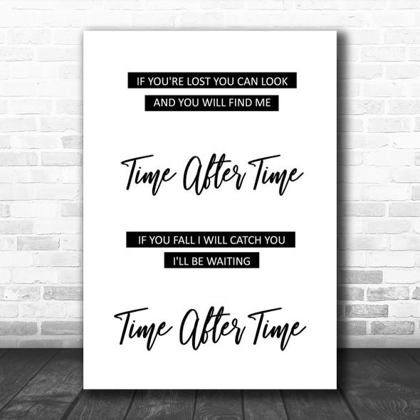 Cyndi Lauper Time After Time Song Lyric Music Wall Art Print