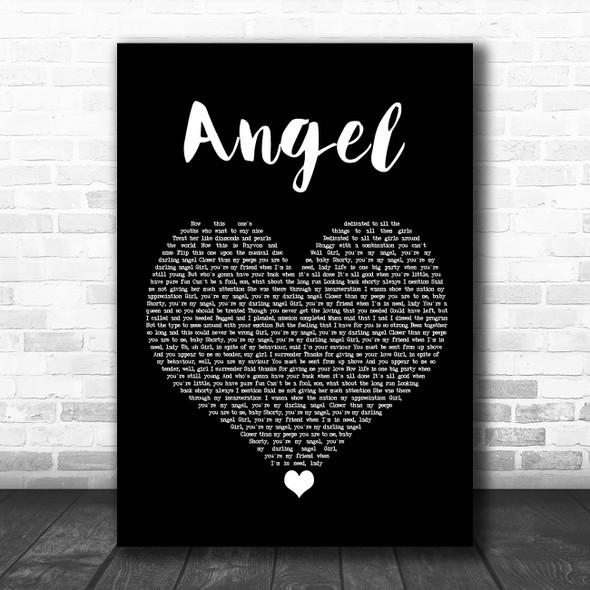 Shaggy Angel Black Heart Song Lyric Print