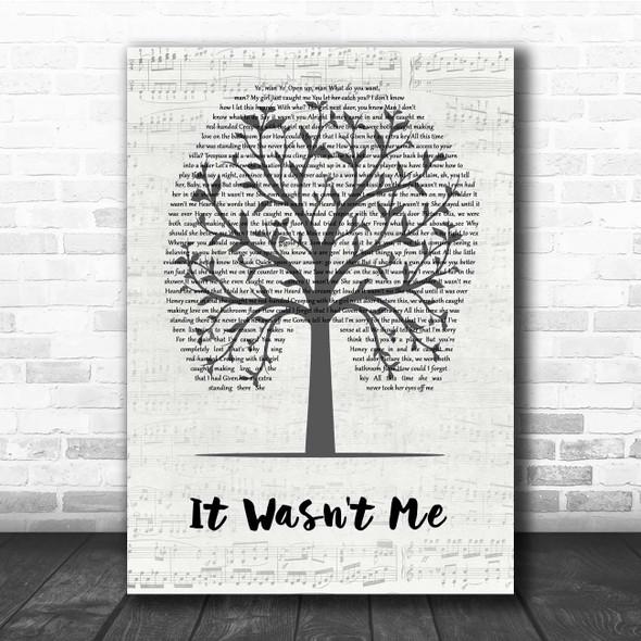 Shaggy It Wasn't Me Music Script Tree Song Lyric Print