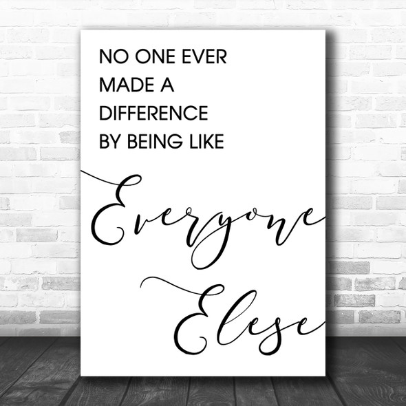 The Greatest Showman Made A Difference Song Lyric Music Wall Art Print