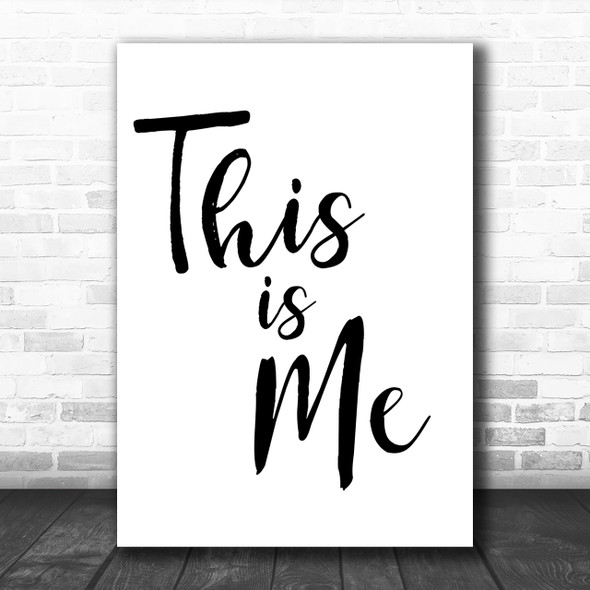 The Greatest Showman This Is Me Song Lyric Music Wall Art Print