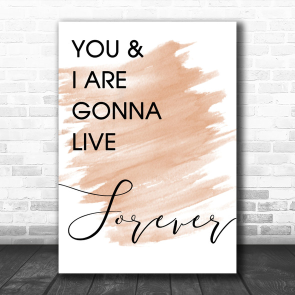 Watercolour Live Forever Oasis Song Lyric Music Wall Art Print