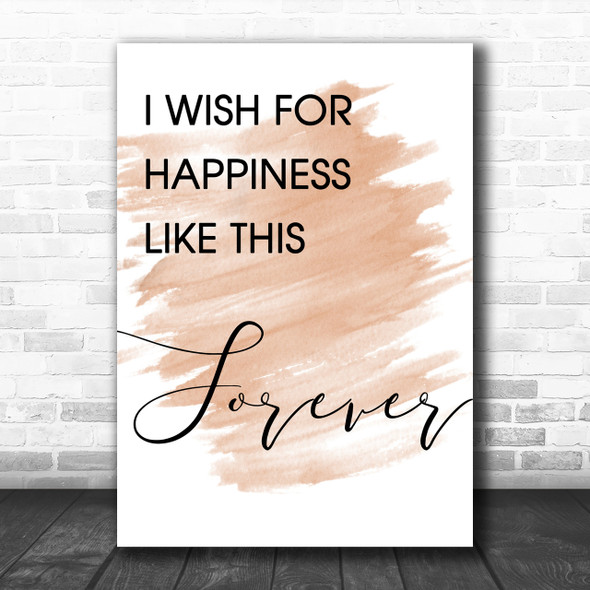 Watercolour The Greatest Showman Happiness Like This Forever Lyric Music Wall Art Print