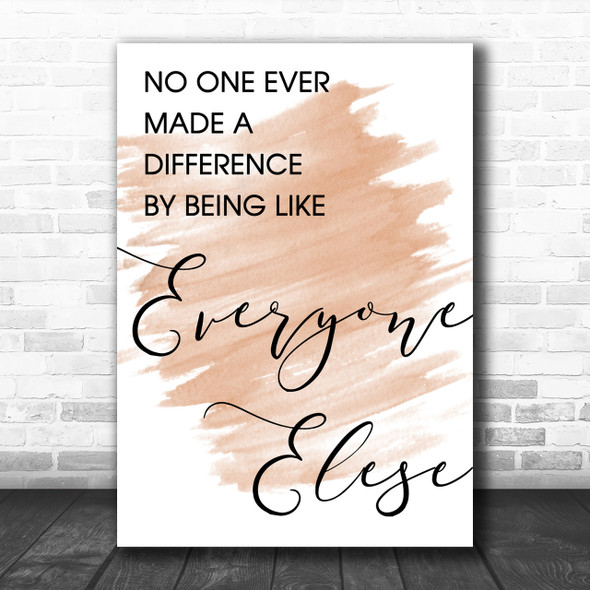 Watercolour The Greatest Showman Made A Difference Song Lyric Music Wall Art Print