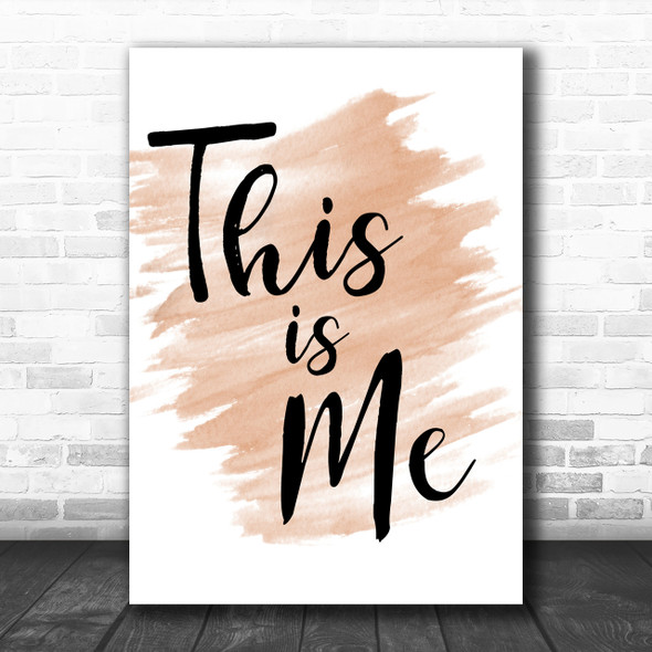 Watercolour The Greatest Showman This Is Me Song Lyric Music Wall Art Print