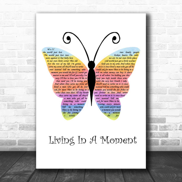 Ty Herndon Living In A Moment Rainbow Butterfly Song Lyric Print