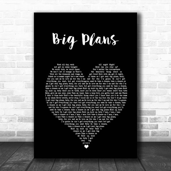 Why Don't We BIG PLANS Black Heart Song Lyric Print