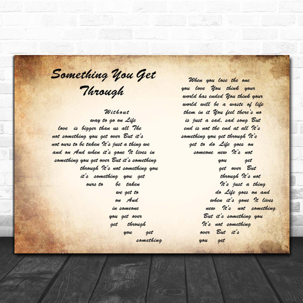 Willie Nelson & Buddy Cannon Something You Get Through Man Lady Couple Song Lyric Print