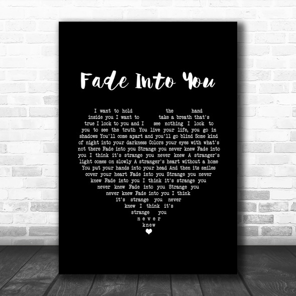 Mazzy Star Fade Into You Black Heart Song Lyric Music Art Print