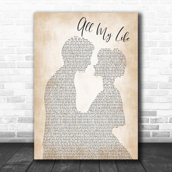 K-Ci & JoJo All My Life Man Lady Bride Groom Wedding Song Lyric Music Wall Art Print