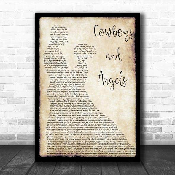Dustin Lynch Cowboys and Angels Man Lady Dancing Song Lyric Music Art Print