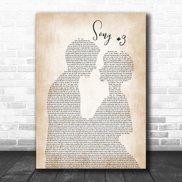 Stone Sour Song 3 Man Lady Bride Groom Wedding Song Lyric Music Wall Art Print