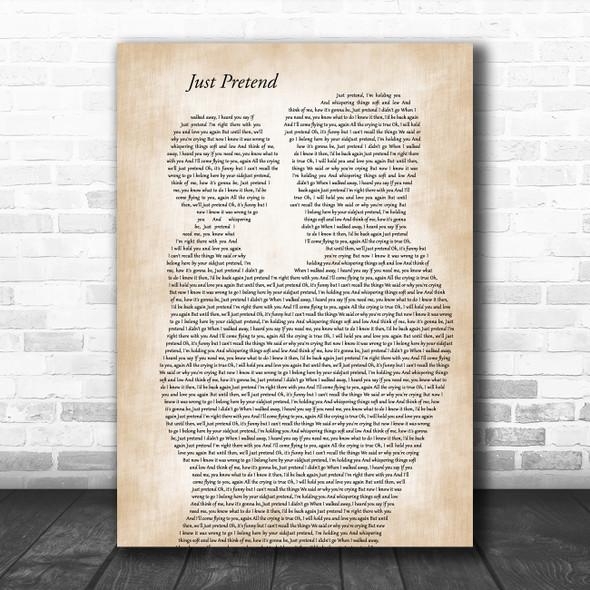 Elvis Presley Just Pretend Father & Child Song Lyric Music Art Print