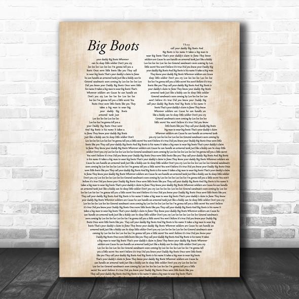Elvis Presley Big Boots Father & Child Song Lyric Music Art Print