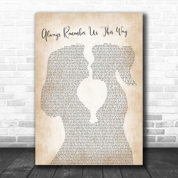 Lady Gaga Always Remember Us This Way Lesbian Women Gay Brides Couple Wedding Song Lyric Music Art Print