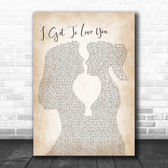 Ruelle I Get To Love You Lesbian Women Gay Brides Couple Wedding Song Lyric Music Art Print
