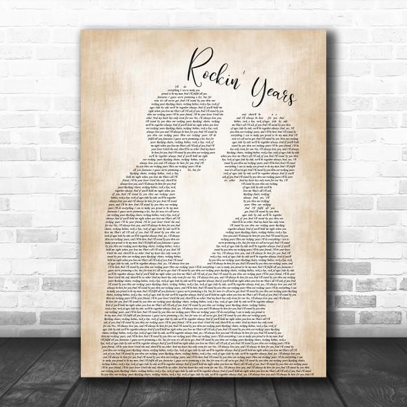 Dolly Parton feat. Ricky Van Shelton Rockin' Years Man Lady Bride Groom Wedding Song Lyric Music Art Print
