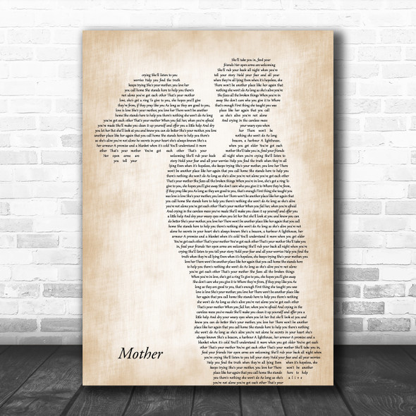 Sugarland Mother Mother & Child Song Lyric Music Art Print