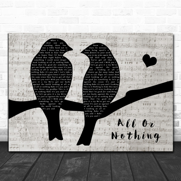 Theory Of A Deadman All Or Nothing Lovebirds Music Script Song Lyric Music Art Print