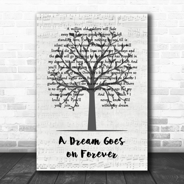 Todd Rundgren A Dream Goes on Forever Music Script Tree Song Lyric Music Art Print