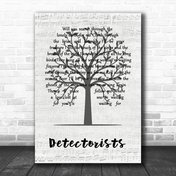 Johnny Flynn Detectorists Music Script Tree Song Lyric Music Art Print