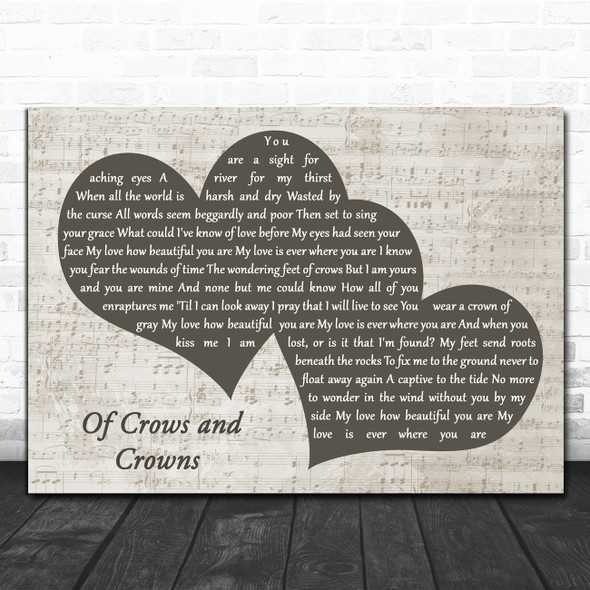 Dustin Kensrue Of Crows and Crowns Landscape Music Script Two Hearts Song Lyric Music Art Print