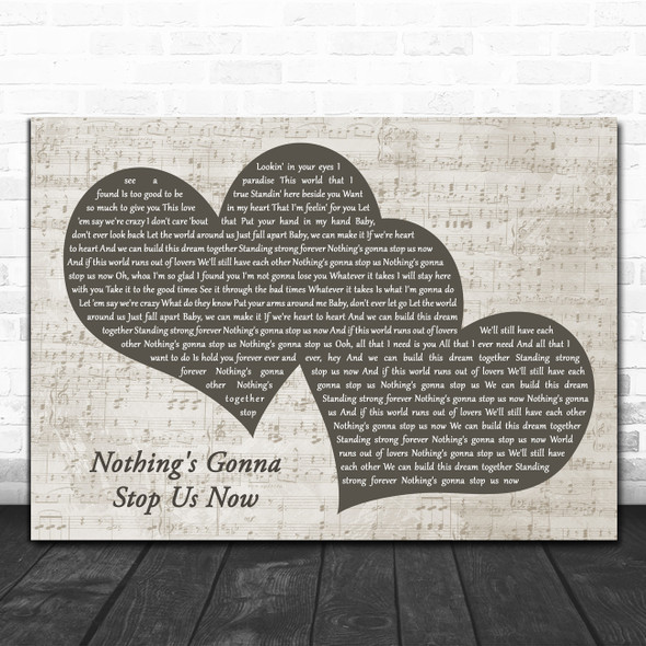 Jefferson Starship Nothing's Gonna Stop Us Now Landscape Music Script Two Hearts Song Lyric Music Art Print