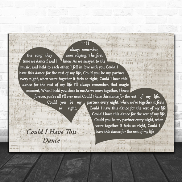 Anne Murray Could I Have This Dance Landscape Music Script Two Hearts Song Lyric Music Art Print