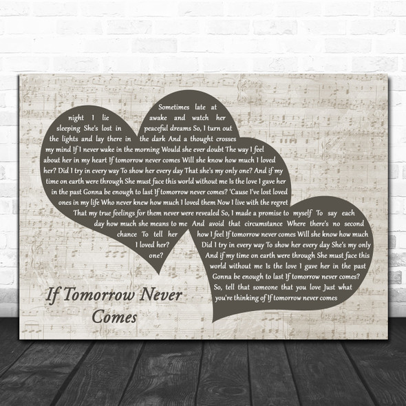 Ronan Keating If Tomorrow Never Comes Landscape Music Script Two Hearts Song Lyric Music Art Print