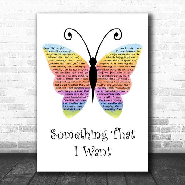 Grace Potter And The Nocturnals from Tangled soundtrack Something That I Want Rainbow Butterfly Song Lyric Music Art Print