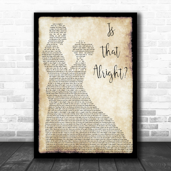 Lady Gaga A Star Is Born Soundtrack Is That Alright Dancing Song Lyric Music Wall Art Print