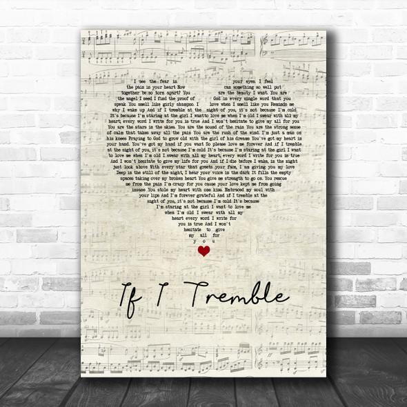 Front Porch Step If I Tremble Script Heart Song Lyric Music Art Print