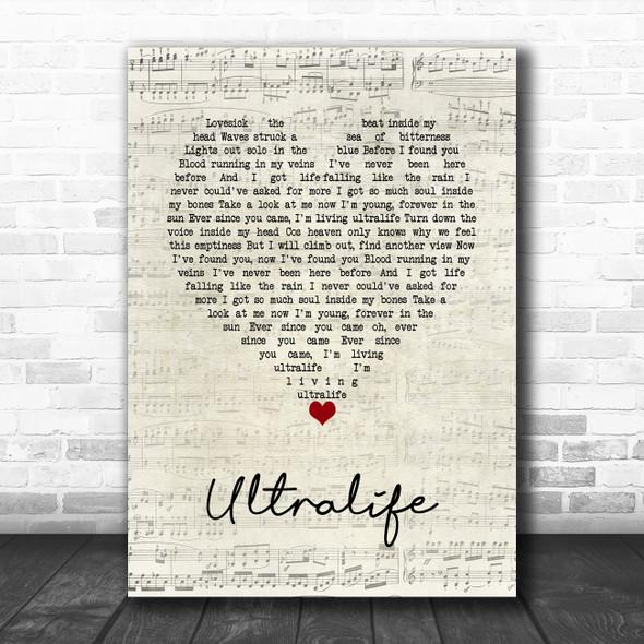 Oh Wonder Ultralife Script Heart Song Lyric Music Art Print