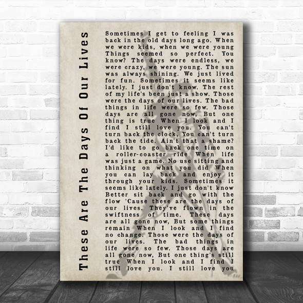 Queen These Are The Days Of Our Lives Freddie Mercury Silhouette Song Music Wall Art Print