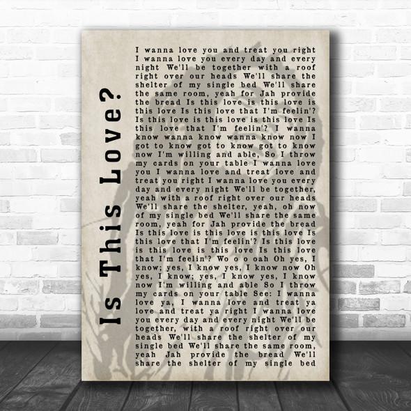 Bob Marley Is This Love Shadow Song Lyric Music Wall Art Print