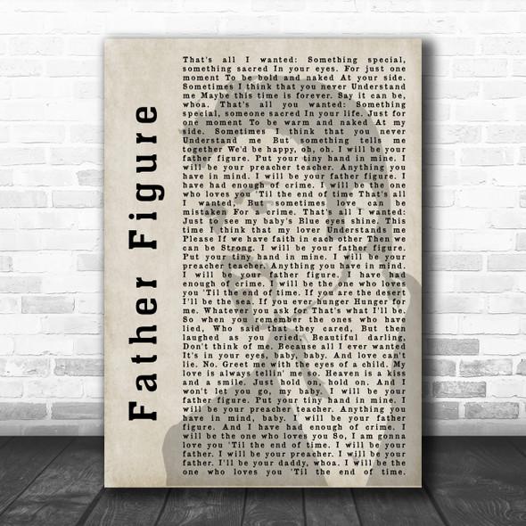 George Michael Father Figure Shadow Song Lyric Music Wall Art Print