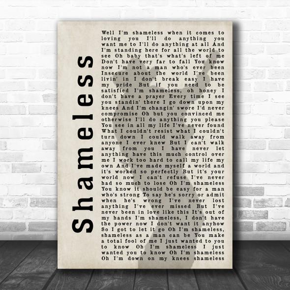 Garth Brooks Shameless Shadow Song Lyric Music Wall Art Print