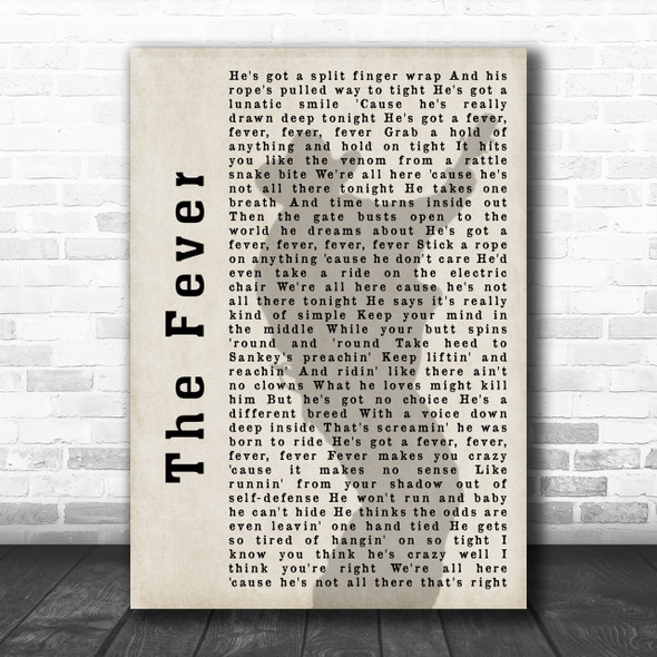 Garth Brooks The Fever Shadow Song Lyric Music Wall Art Print
