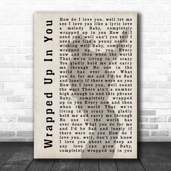 Garth Brooks Wrapped Up In You Shadow Song Lyric Music Wall Art Print