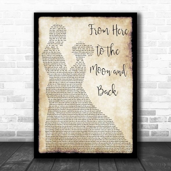 Willie Nelson ft. Dolly Parton From Here to the Moon and Back Man Lady Dancing Song Lyric Art Print