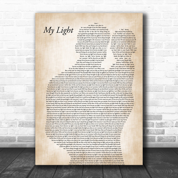 Sully Erna My Light Father & Baby Song Lyric Art Print