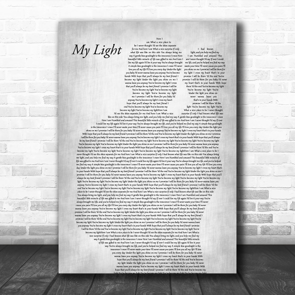 Sully Erna My Light Father & Baby Grey Song Lyric Art Print