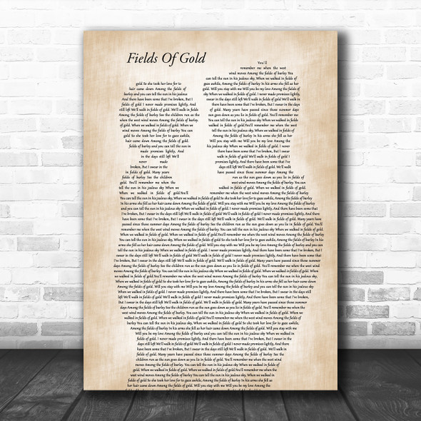 Eva Cassidy Fields Of Gold Father & Child Song Lyric Art Print