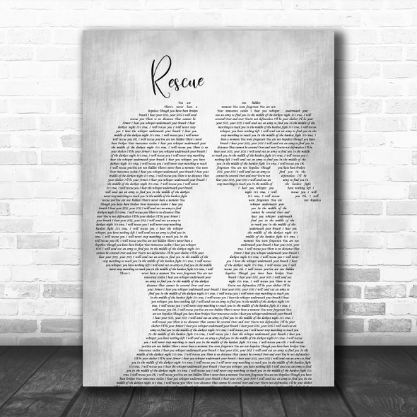 Lauren Daigle Rescue Lesbian Women Gay Brides Couple Wedding Grey Song Lyric Art Print